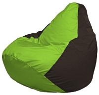 Бескаркасное кресло Flagman Груша Макси Г2.1-165 (салатовый/коричневый) -
