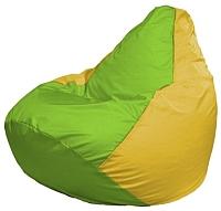 Бескаркасное кресло Flagman Груша Макси Г2.1-167 (салатовый/желтый) -