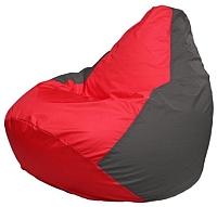 Бескаркасное кресло Flagman Груша Макси Г2.1-170 (красный/темно-серый) -