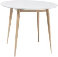 Обеденный стол Signal Larson (белый/беленый дуб) -