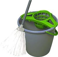 Набор для уборки пола York Set с круглым ведром (10л, серый) -
