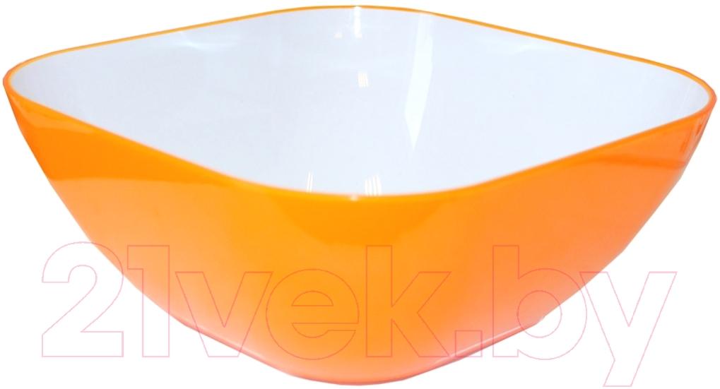 Салатник Bradex, TK 0130 (оранжевый), Китай, акрил  - купить со скидкой