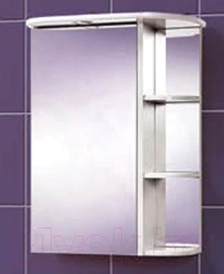 Шкаф с зеркалом для ванной Акваль Эмили 55 / AL.04.55.00.L