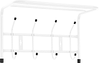 Вешалка для одежды Ника ВП4 (белый) -