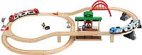 Железная дорога детская Brio Железная дорога двухуровневая с вокзалом 33512 -