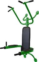 Турник-брусья Формула здоровья Атлет (зеленый/черный) -