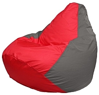 Бескаркасное кресло Flagman Груша Мини Г0.1-173 (красный/серый) -