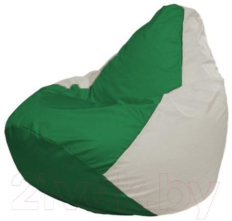 Купить Бескаркасное кресло Flagman, Груша Мини Г0.1-244 (зеленый/белый), Беларусь, оксфорд