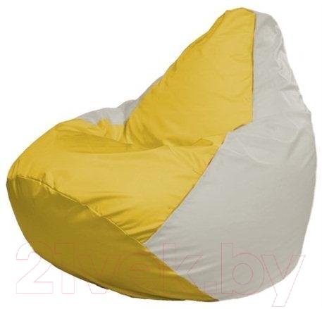 Купить Бескаркасное кресло Flagman, Груша Мини Г0.1-266 (желтый/белый), Беларусь, оксфорд
