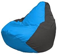 Бескаркасное кресло Flagman Груша Мини Г0.1-270 (голубой/темно-серый) -