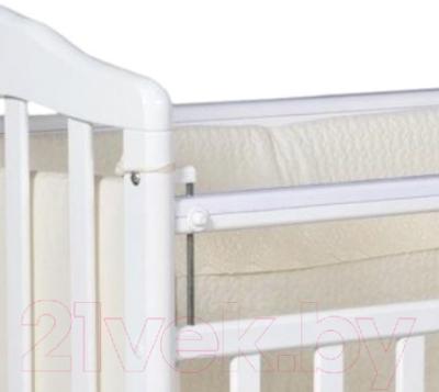 Детская кроватка Антел Алита-2 (Слоновая Кость) - Фото кнопки опускания планки кровати на примере другой расцветки товара