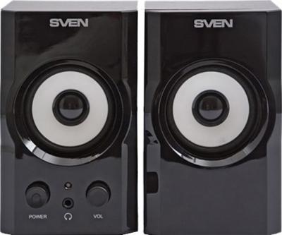 Мультимедиа акустика Sven SPS-605 (черный) - вид спереди