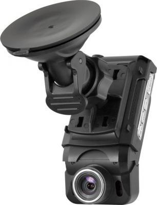 Автомобильный видеорегистратор Mystery MDR-804HD - общий вид с креплением