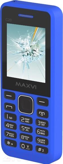 Мобильный телефон Maxvi, C20 (синий), Китай  - купить со скидкой