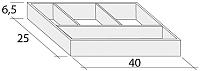 Органайзер выдвижных ящиков Riho F94014025 -