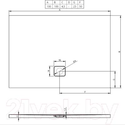 Душевой поддон Riho Basel DC34005 (100x100)