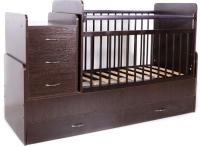 Детская кровать-трансформер Bambini М.01.10.01 (темный орех) -
