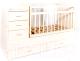 Детская кровать-трансформер Bambini М.01.10.01 (слоновая кость) -