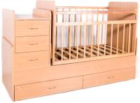 Детская кровать-трансформер Bambini М.01.10.01 (натуральный) -
