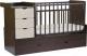 Детская кровать-трансформер СКВ Жираф 540038-212 (венге/серый текстиль) -