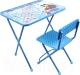 Комплект мебели с детским столом Ника КП2/18 Азбука 4: Маша и Медведь (голубой) -