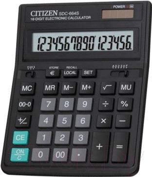 Калькулятор Citizen SDC-664 S