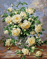 Картина по номерам Picasso Букет белых роз (PC4050022) -