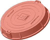 Люк канализационный Сандкор Тип Л 30кН (красный) -