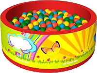 Сухой бассейн Romana Летняя сказка ДМФ-МК-02.50.00 (150 шариков, красный) -