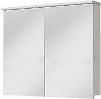 Шкаф с зеркалом для ванной Ювента Monza MnMC-100 (белый) -