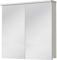 Шкаф с зеркалом для ванной Ювента Monza MnMC-70 (белый) -
