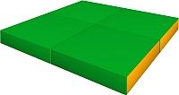 Гимнастический мат Romana ДМФ-ЭЛК-14.96.01 (зеленый/желтый) -