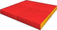 Гимнастический мат Romana ДМФ-ЭЛК-14.96.01 (красный/желтый) -
