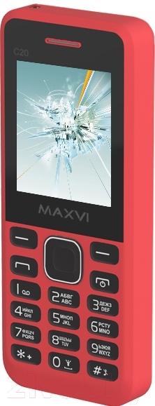 Мобильный телефон Maxvi, C20 (красный), Китай  - купить со скидкой