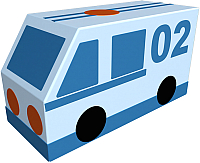 Контурная игрушка Romana Полиция ДМФ-МК-01.23.03 -