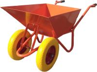 Тачка Altrad T-066/S 100L 2 колеса, полиуретан (с осью Сва) -