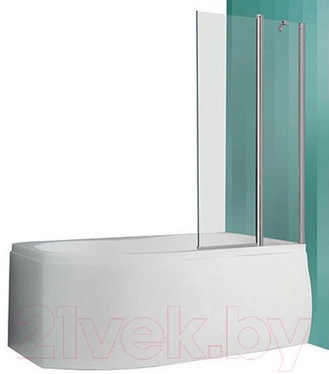 Купить Стеклянная шторка для ванны Roltechnik, TV2 (хром/прозрачное стекло), Чехия