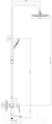 Душевая система Rossinka Silvermix S35-46