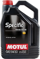 Моторное масло Motul Specific VW 504.00/507.00 5W30 / 106375 (5л) -