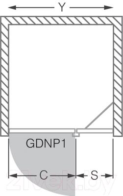 Душевое ограждение Roltechnik Elegant Line GDNP1/120 (хром/прозрачное стекло) - схема
