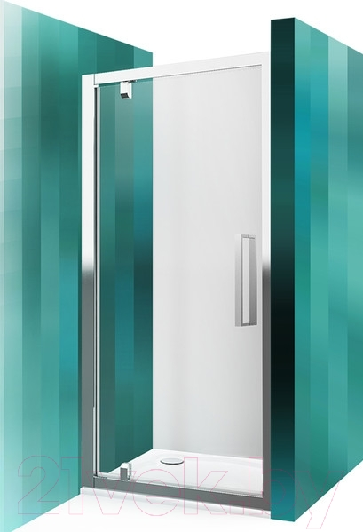 Купить Душевая дверь Roltechnik, Exclusive Line ECDO1N/80 (черный/прозрачное стекло), Чехия