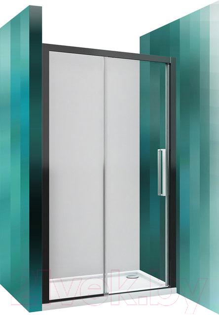 Купить Душевое ограждение Roltechnik, Exclusive Line ECD2L/120 (черный/прозрачное стекло), Чехия