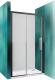 Душевое ограждение Roltechnik Exclusive Line ECD2L/120 (черный/прозрачное стекло) -