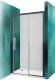 Душевое ограждение Roltechnik Exclusive Line ECD2P/150 (черный/прозрачное стекло) -