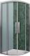Душевой уголок Roltechnik Exclusive Line ECR2N/90 R55 (черный/прозрачное стекло) -