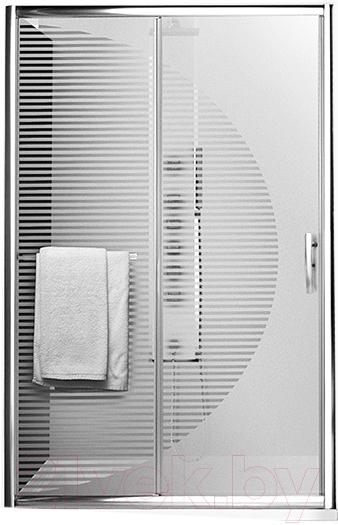 Купить Душевая дверь Roltechnik, Proxima Line Design Plus PXD2N/120 (хром/стекло с узором), Чехия