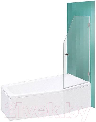 Купить Стеклянная шторка для ванны Roltechnik, SaniPro Screen Mini 65 (хром/прозрачное стекло), Чехия