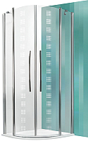 Душевой уголок Roltechnik Tower Line TR2/90 Design Plus / 702-900E000 (хром/стекло с узором) -