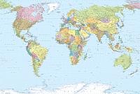 Фотообои Komar World Map XXL4-038 (368x248) -