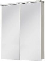 Шкаф с зеркалом для ванной Ювента Monza MnMC-60 (белый) -